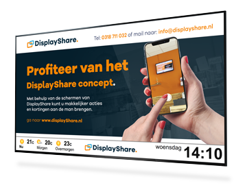 DisplayShare sample screen with presentation